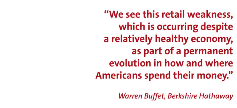 warren buffet quote on retail weakness