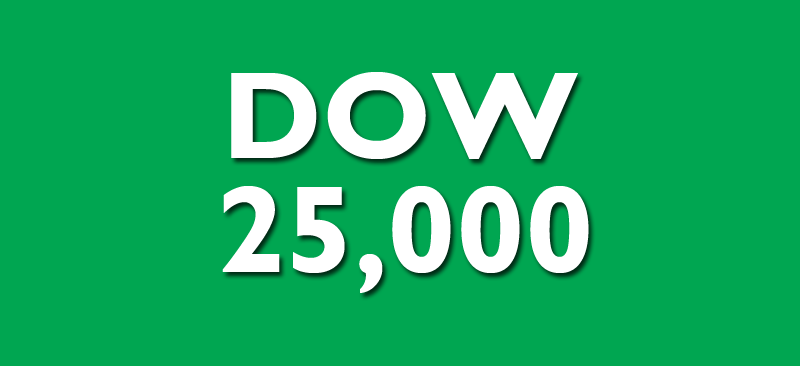 Dow Jones Industrials 25,000